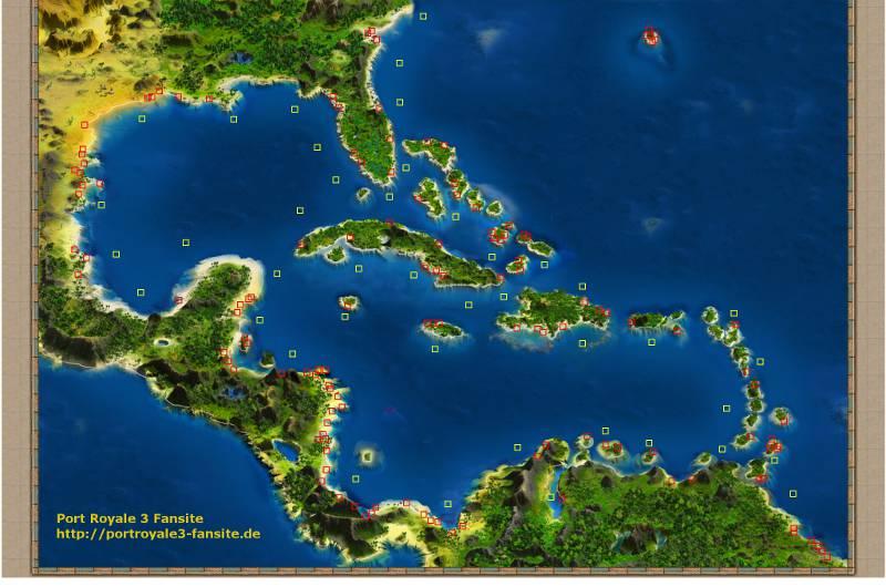 Port Royale 3 - Schatzkarte - Bonusschätze und mehr